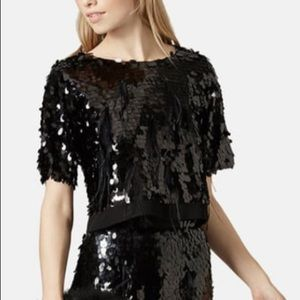 Topshop Limited Edition Sequin Top